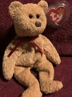 RARE TY BEANIE BABIES CURLY BEAR 1993 NEW+CLEVELAND ROCKERS COMMEMORATIVE CARD