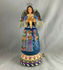 2014 JIM SHORE HEARTWOOD CREEK MUSICAL ROTATING ANGEL NATIVITY SILENT NIGHT RARE