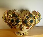 Large Zsolnay Pecs Reticulated Bowl c1880's