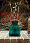 Vintage Signed 2000 Blenko Glass Emerald Green Teal Water Double Spout Pitcher