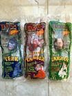 1999 McDonalds Tarzan Tantor and Terk Sound Straws set of 3 NIP+ Bag