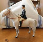 BESWICK GREY HUNT HORSE WITH LADY RIDER EXCELLENT CONDITION MARKED