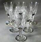 Waterford Lismore Fine Crystal Set Of Six Sherry Glasses