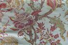 Jacquard chinoiserie style floral cream  pink upholstery fabric  375 yards