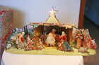 Antique Christmas Manger Nativity set cardboard cut out