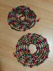 2 Lovely Vintage Mercury Glass Christmas Tree Garland 79+ Round  Indent Beads