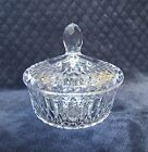 BEAUTIFUL Heavy Deep Cut Lead Crystal Glass Covered Candy Bowl Dish