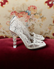 1800 DolceGabbana Cinderella Glass Slippers Clear Swarovski Plexiglass Shoes