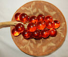 VTG LARGE MID CENTURY LUCITE GLASS GRAPE CLUSTER 22 175 GRAPES 13 LONG