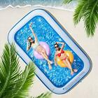 CHICLIST Inflatable Swimming Pool 120x72x20in for 1 5 Kids Kiddie Pools Famil