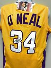 Shaquille O'Neal Los Angeles Lakers Signed Autograph Custom Jersey Yellow JSA Wi