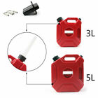 Motorcycle 3L 5L Jerry Cans Gas Diesel Fuel Tank For Car w Lock+Mounting AT2