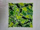 Fused Art Glass Plate Green Pieces 10 x 10 inches BEAUTIFUL