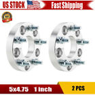 2 Pcs 1 inch 5x475 to 5x475 Wheel Spacers Adapters 705mm CB For Chevrolet US