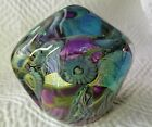 ROBERT EICKHOLT 2005 DEEP SEA FreeForm ART GLASS SCULPTURE Purple Green Dichroic