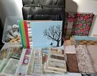 HUGE Scrapbooking Lot TONS of Paper Ribbon Stickers IN Great Carrying Case