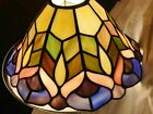 QUOIZEL Collectable Tiffany Leaded STAINED GLASS LAMP SHADE 9 PEACOCK FREE SHI