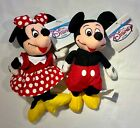 NEW Vintage Disney Store Mickey & Minnie Mouse Mini Beanie Plush with Tags