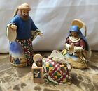 Jim Shore Holy Family Hanging Ornament Set Of 3 2004 Heartwood Creek Nativity