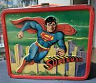 Vintage 1978 Aladdin Superman Movie Metal Lunch Box + Thermos Complete *FREE S H