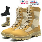 Mens Military Tactical Combat Army Boots Hiking Trekking Motorcycl Work Booties