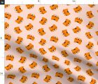 Cute Pink Tiger Glasses Kids Children Nursery Spoonflower Fabric by the Yard
