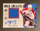 2010-11 SP GAME USED INKED SWEATERS PAUL STASTNY AUTO JERSEY 50