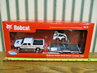 Bobcat S205 Skid Loader With Chevy Silverado  Trailer Set By DCP 1 50th Scale