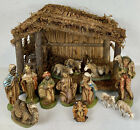 Vintage Christmas Nativity Manger Set 11 Figurines Sears 71 97724 Made in Italy