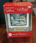 THOMAS KINKADE Hallmark Season's Holiday Ornament Deer Creek Cottage 2012