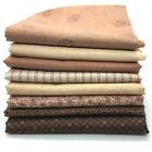 Red Rooster Basically Hugs Cotton Fabric  Brown Beige Collection