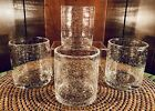 NWTG Tag Bubble Glass Double Old Fashioned Barware Glasses Set Of 4  Mint