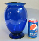 Rare Vintage PAIRPOINT Hand Blown Art Glass Cobalt Blue 875 Footed Vase Pontil