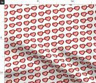 Heart Glasses Valentines Day Red Cute Love Pink Spoonflower Fabric by the Yard