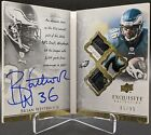 2009 Upper Deck Exquisite Auto Biography Brian Westbrook 4 CLR Patch # 35 AB-BW