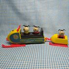 VINTAGE Fisher Price Little People SNOW MOBILE Trailer 705 Wood Dogs 1970s Sled