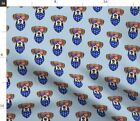 Cute Dog Patriotic Boxer Glasses 4Th Of July Dog Spoonflower Fabric by the Yard