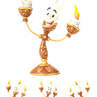 "Disney Traditions by Jim Shore ""Beauty and the Beast"" Lumiere Stone Resin Fig..."