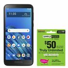 Simple Mobile Moto e6 4G LTE Prepaid Cell Phone w 50 Airtime Plan Included