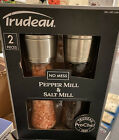 NEW IN BOX Trudeau Large Pepper and Himalayan Salt 10 Glass Grinder Mill Shaker