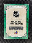 20 21 Artifacts Emerald WildCard Rookie Redemption RED219 Vitek Vanecek 99