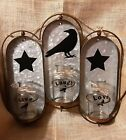 BEAUTIFUL RUSTIC DECOR NEW with Live Laugh Love on a metal glass hanging
