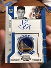 2010-11 Jeremy Lin #141 Playoff Contenders RC Warriors Logo Patch AUTO