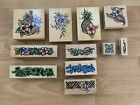 LOT Vintage Stampendous Rubber Stamps Aloha Collection Hawaii Year 2000