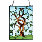 Tree Stained Glass Panel Art Glass Sun Catcher Home Decor Wall Hanging
