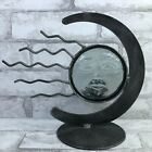 Moon and Sun Candle Holder Votive Metal Gray Metal Glass Southwestern Celestial