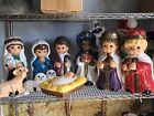 10pc Nativity Blow Mold Scene Set 18 Nativity Table Top Collection