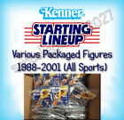 1988-2001 Starting Lineup SLU Figures w/ Cards Baseball Basketball Football ETC