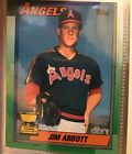 1989 topps all start rookie jim abbott baseball card California Angels