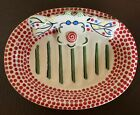 M Bagwell Simply Christmas Soap Trinket Dish Ceramic Colorful Reindeer Holiday